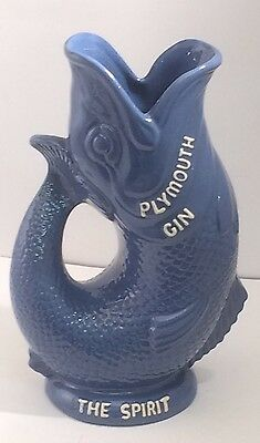 "Plymouth Gin Glug Jug "" The Spirit Of The West"" Dartmouth Devon, Mint Condition"