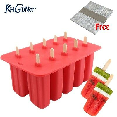 New Food Grade Popsicle Mold Ice Cream maker Tray Summer Cool Ice Popsicle Mold