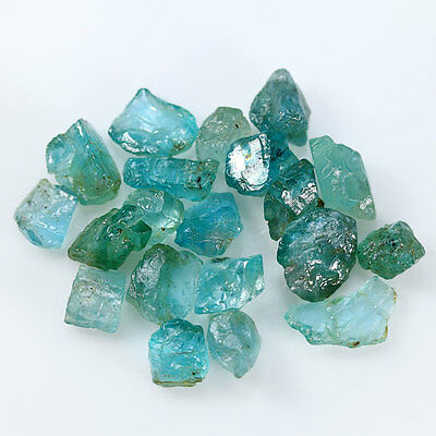 36.50 ct.20 Pcs.Neon Blue Green Apatite Rough Natural Gemstone Free Shipping!!