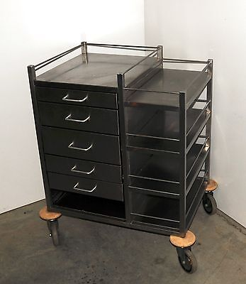 Medical Equipment Trolley Stainless Steel with  5 x Drawers