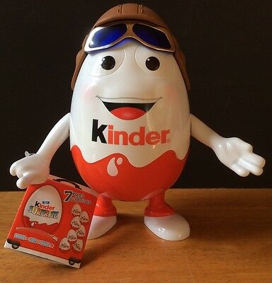 "KINDER Surprise Egg Aviator Pilot Man 10"" Tall Promo Store Display With Tags"