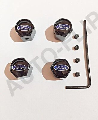Ford Focus ST RS Dust Valve Caps Anti Theft Lock- Fits ALL Models Tyre