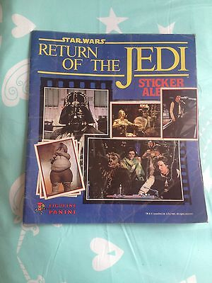 Star Wars 1983 Vintage Return of the Jedi Panini Scanlens album 174/180 near set
