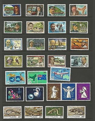 A2/52  SELECTION of CHRISTMAS ISLAND  STAMPS MUH.