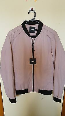 ASOS Mens bomber jacket in dusty pink size S