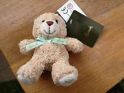 HARRODS Teddy Bear Keying/handbag Charm BNWT