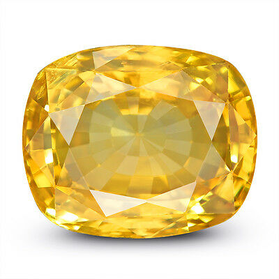 6.71-ct Attractive Natural Cushion Cut Unheated Yellow Sapphire from Sri Lanka