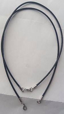 Quality 2Mm Real Leather   Necklace Cord String With Lobster Clasp 12- 30 Inches