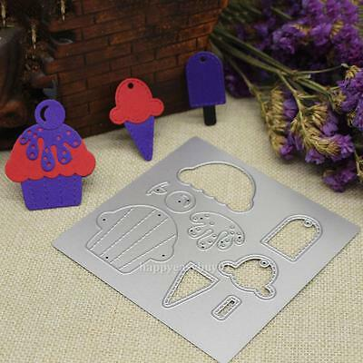 Ice cream Metal Cutting Dies Stencil DIY Scrapbooking Album Paper Card Craft Hot