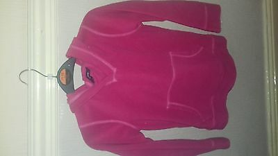 pink fleece hoodie 7-8years