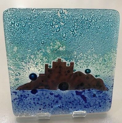Genuine Jo Downs Bespoke Fused Glass Coaster Direct From The Studio