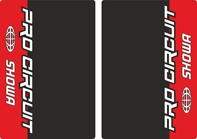 Showa ProCircuit Motocross Upper Fork Decals Stickers Graphic Set Adhesive Red