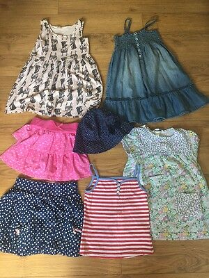 BUNDLE OF GIRLS CLOTHES 4-5-6 YEARS-7 Items.(HM F&F, Disney, Mothercare)