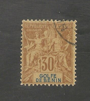 Benin #28 VF USED - 1893 30c Peace and Commerce - SCV $21.00