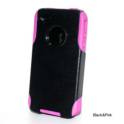 Lot of 40 Impact Hard Case +Silicone Hybrid Cover for iPhone 4 4s Pink Black