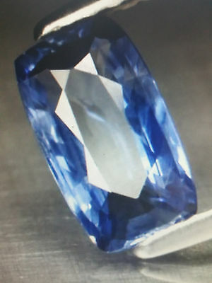 saphir bleu de Ceylan naturel 1,25cts Antique cut +