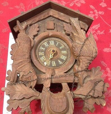 Good Size Regula Cuckoo  Clock  For Spares Or Repair Nice Case