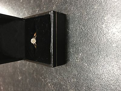 Diamond 18 ct gold engagement ring size K1/2 valued at £1500