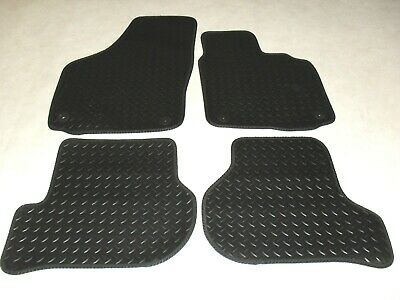 VW Golf MK6 2009-2012 Fully Tailored Deluxe RUBBER Car Mats in Black