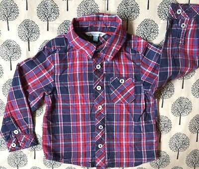 John Lewis Baby Boy Checked Shirt 12-18 months
