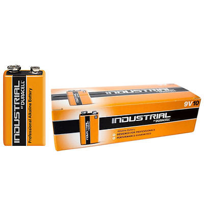 2X Duracell Industrial 9V PP3 Block Alkaline Batteries MN1604 Replaces Procell