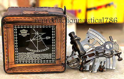 Solid Brass Ship Sextant Collectible Astrolabe Brass Maritime Sextant Decorative