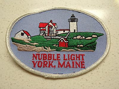 Vintage Nubble Light House York Maine  Embroidered Patch Souvenir 123