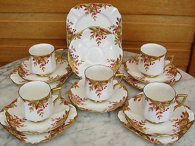 Bell China 16 piece part tea set. (5 trios + 1 extra saucer) Excellent Condition