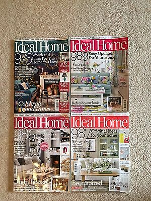 Bundle of 4 Ideal Home Magazines Jan to April 2016