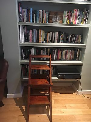 Mahogany Wooden Folding Metamorphic Library Steps & Chair
