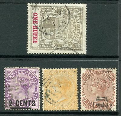 Mauritius QV Used Stamps. SG70, 102, 116, 153