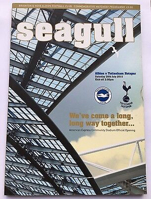 Brighton & Hove Albion FC RARE commemorative football programme