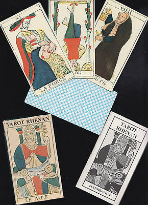 Tarot Rhena - 78 Tarotkarten de Marseille & Booklet in Deutsch, 1983 Piatnik RAR