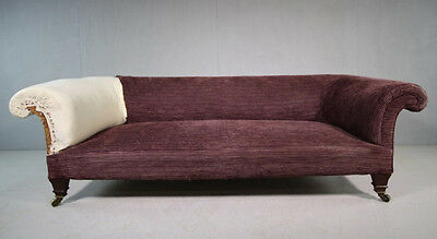 Genuine Antique Victorian Howard & Sons Sofa Settee and Howard & Sons Footstool