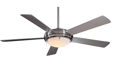 """Minka-Aire F603-BN, Como, 54"""" Ceiling Fan with Light & Wall Control, Brushed Nic"""