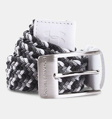 Under Armour Braided Belt White UK 36 WAIST Clearance 1267067