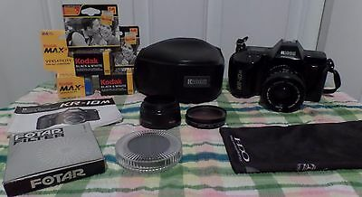 Ricoh KR 10m 35mm SLR Camera Including some Film and filters