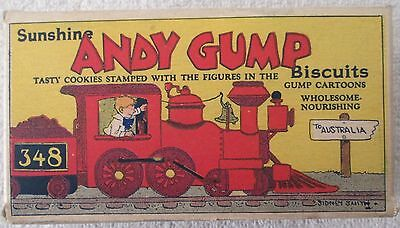 Andy Gump Comic strip character Sunshine Biscuits box excellent 1930's