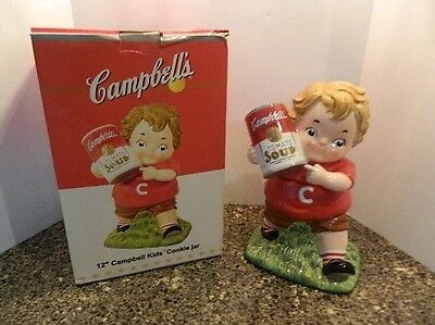 "2005 Campbell's Soup 12"" Campbell Kids Cookie Jar New in Original Box"