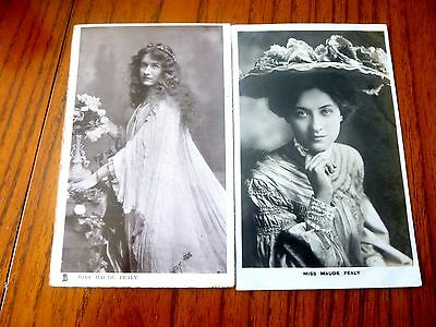 2 RP postcards of Miss Maude Fealy an actress in Edwardian times used 1906