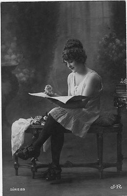 French NUDE real photo postcard circa 1920 JR SERIE89