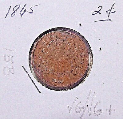 Nice...1865  2 Cent Piece***VG/VG+ Or So Details***(15B)