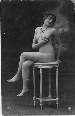 French NUDE real photo postcard circa 1920 Jean AGELOU 105