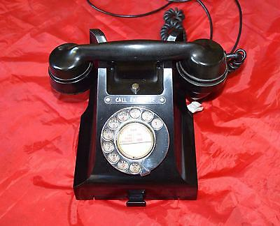 vintage black bakelite 312L GPO telephone with call exchange and drawer.
