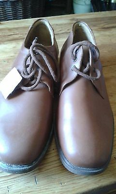 Men's size 12 brown leather shoes, BNWT