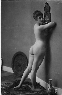 French NUDE real photo postcard circa 1920 Jean AGELOU 171