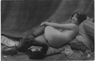 French NUDE real photo postcard circa 1920 Jean AGELOU 136