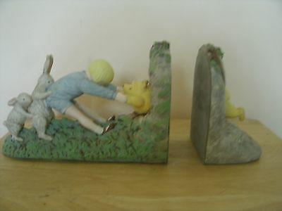 Classic Winnie the Pooh Bookends By Charpente with Christopher Robbins