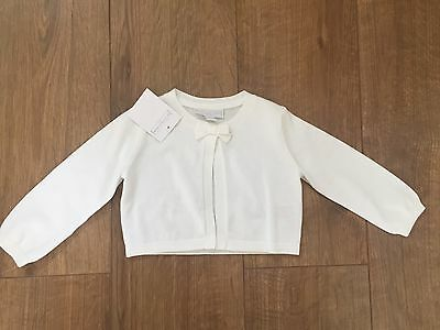 New The Little White Company Baby Girl Cardigan 6-9 Months