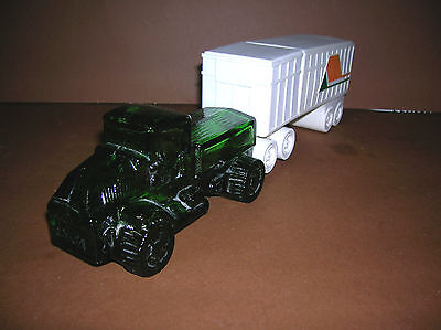 "RARE Avon BIG MACK Truck Decanter{Oland} w/ Highway King Talc Trailer 13"" Long"